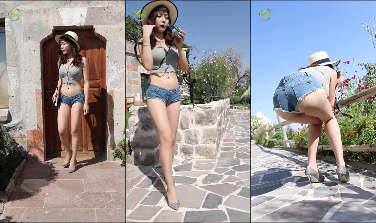 街拍短裤 性感美腿 美臀 H01 Beauty leg | jeans pants |  tight pants | sexy hip タイトパンツ|  스키 니 진 엉덩이