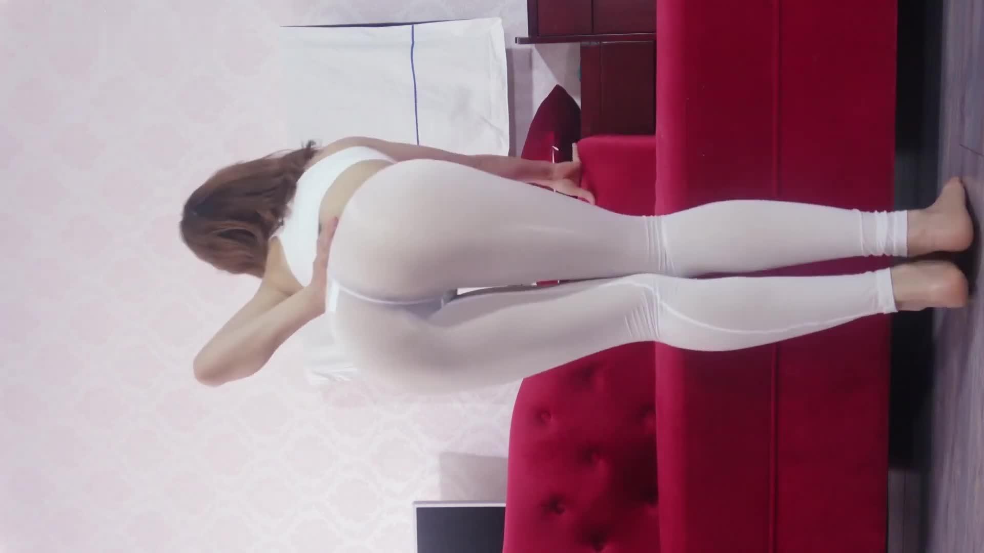Sexy Dance 烈焰 透明緊身絲褲  動感沙發誘人美臀秀