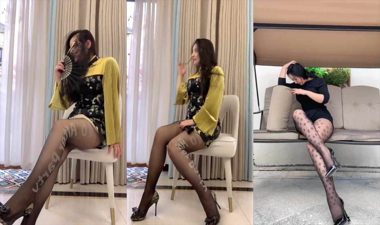 絲襪美腿「尤物」性感嫵媚「黑絲網襪」大長腿「高跟鞋」超短裙誘惑無限