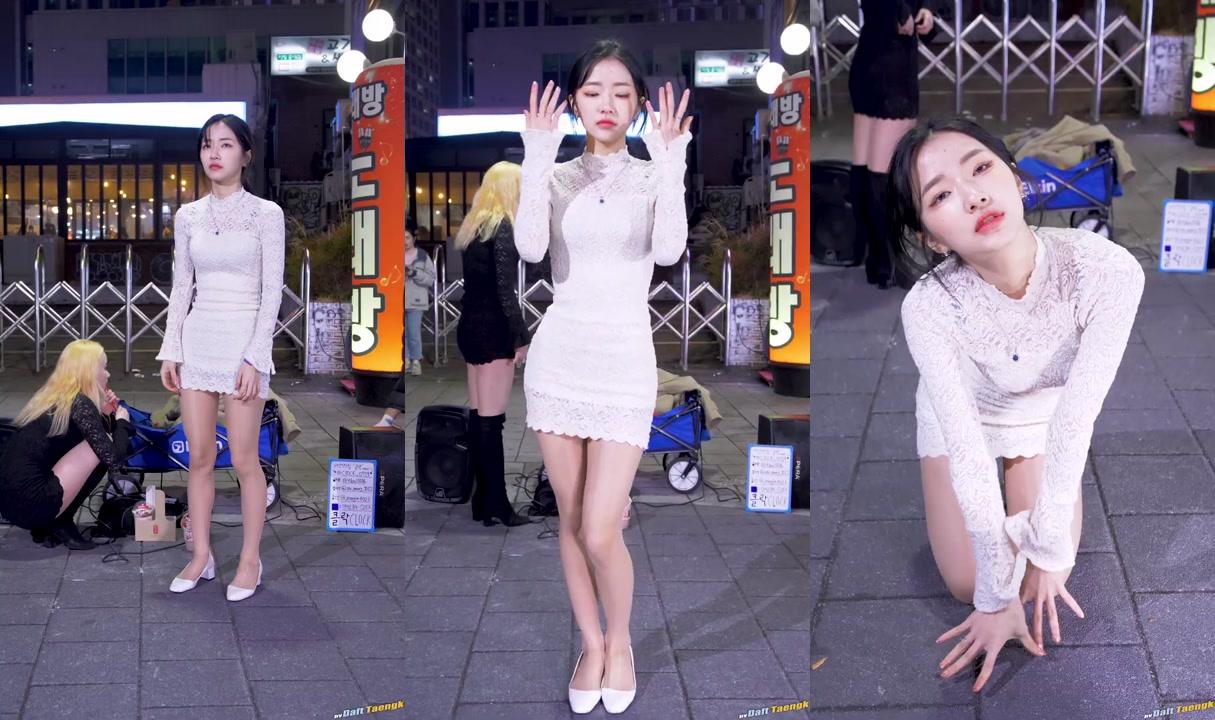 200213 서영 SeoYoung 클락 Clock 'Rumor(아이즈원)' 4K 60P 직캠 @홍대 버스킹 by DaftTaengk