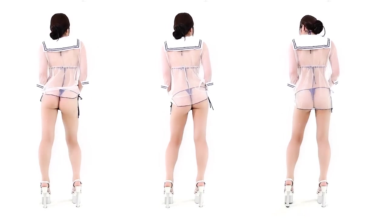 水晶高跟薄纱丁字裤